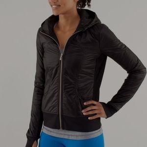 Lululemon Uba hoodie lux black jacket size 8